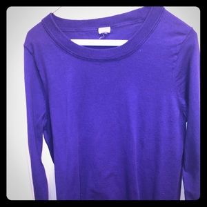 J. Crew 3/4 sleeve crew neck sweater purple LG
